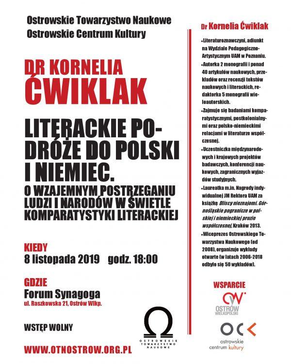 Wykład dr K. Ćwiklak_plakat